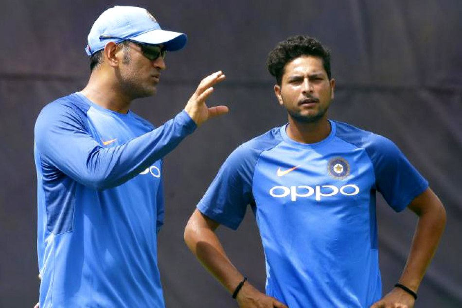 ms dhoni slams kuldeep yadav in a match against srilanka
