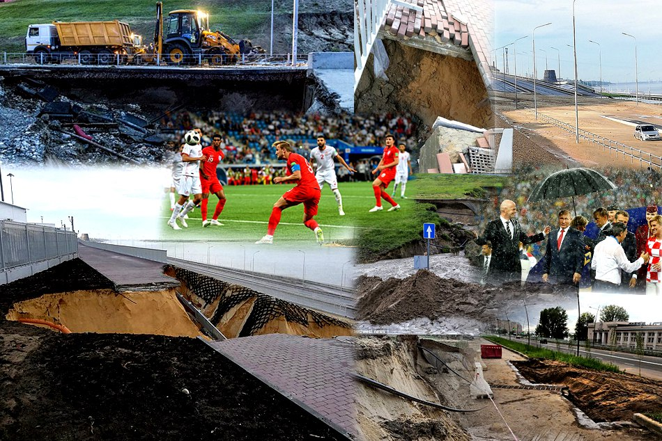 Two Russian stadiums started to COLLAPSE already fifa