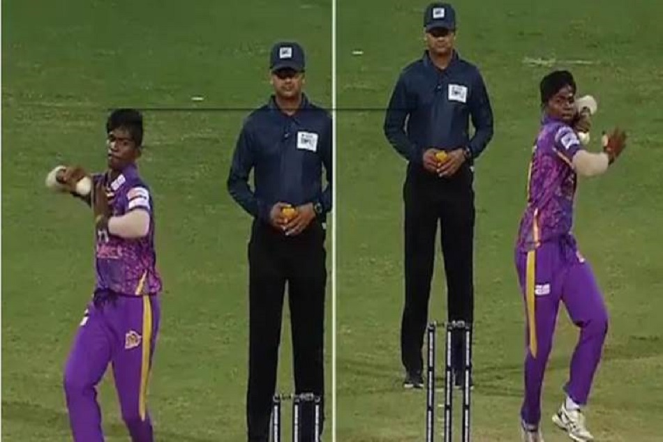 this indian spinner used his both hands to bowl video viral