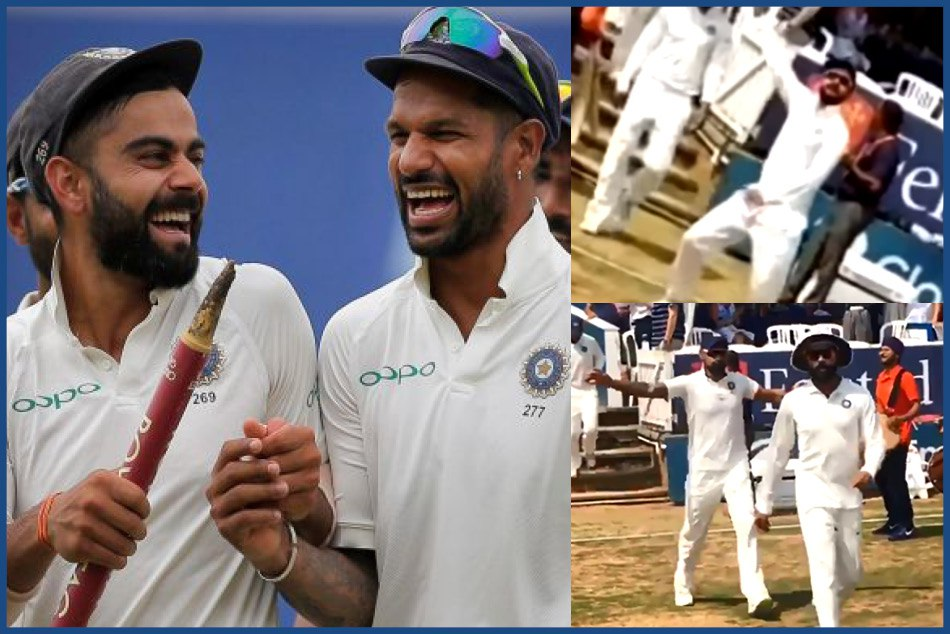 Watch video of Kohli and Dhawan dance on bhangra
