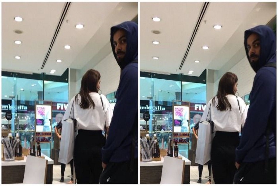 watch video of anuskha sharma and virat shopping in England