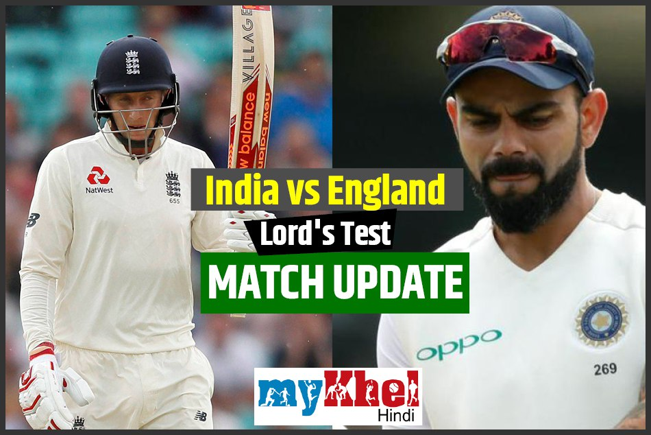 india vs england 2nd test match 3rd day live score lords