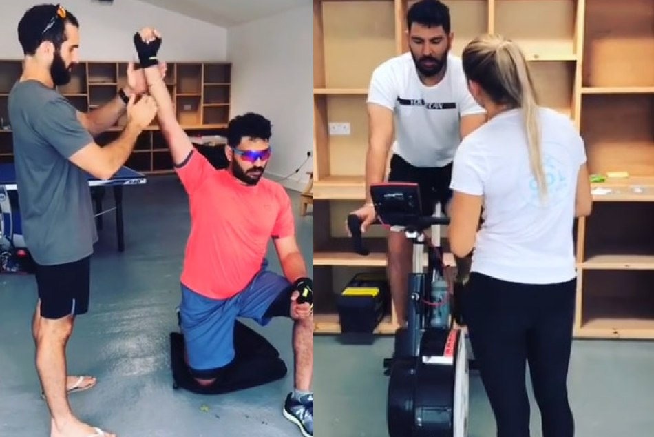 Yuvraj singh hard practice in gym for team selection