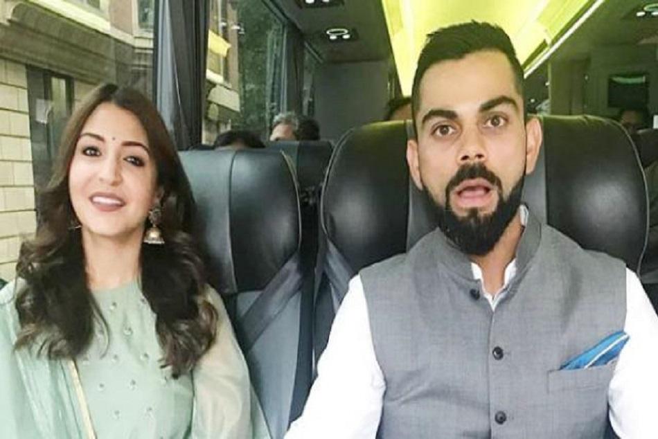 anushka sharma with team india in london high commison virat trolled
