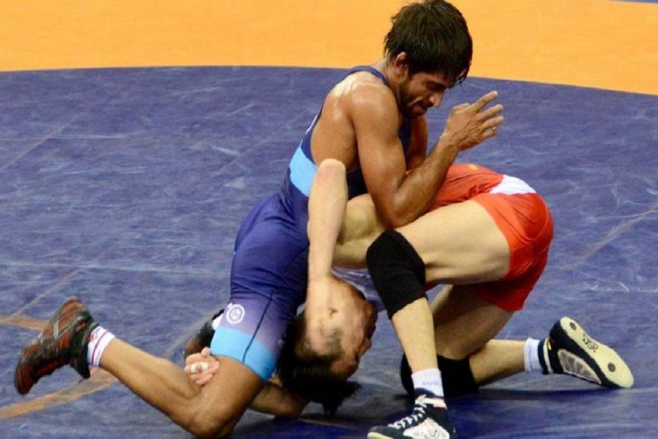 Bajran Punia Won Gold Wrestling Asian Games