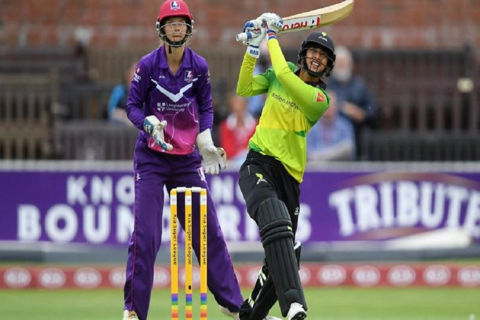 smriti mandhan makes great record in ksl with fifty