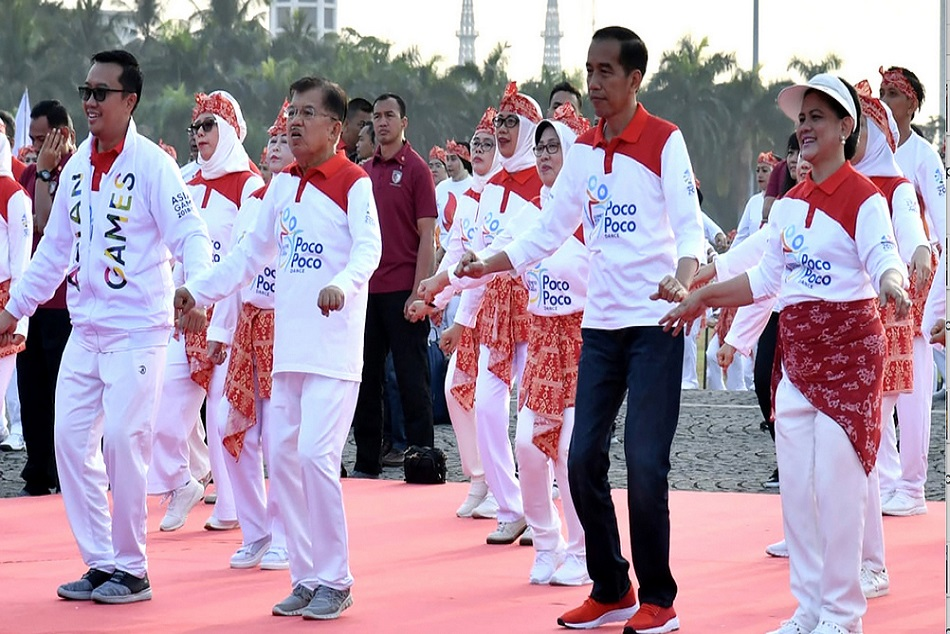 indonesian president dance for asian games support for people