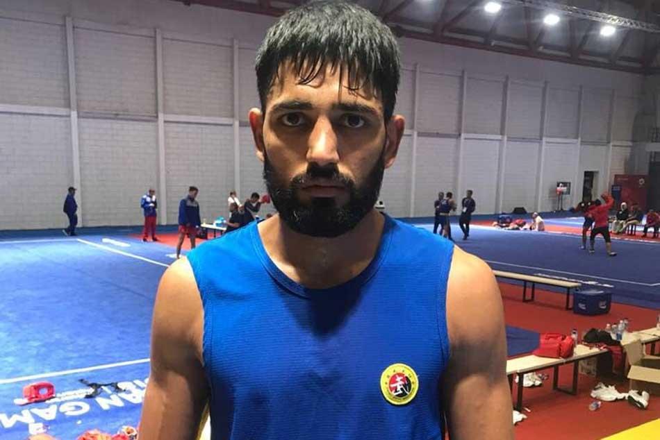 narendra grewal wins bronze in Wushu Mens Sanda 65 kg event