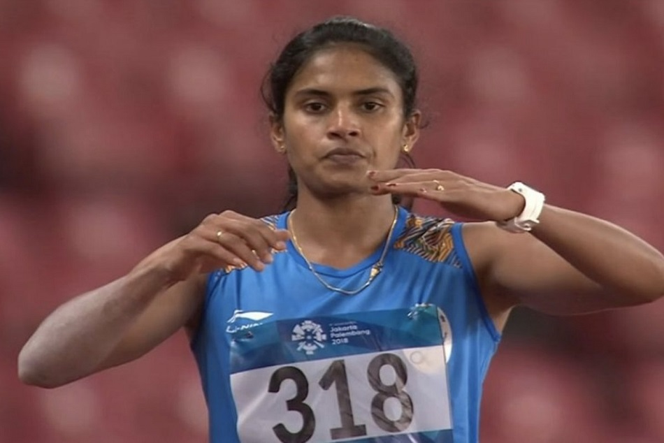 AsianGames2018 : Neena Varakil wins a silver medal in long jump