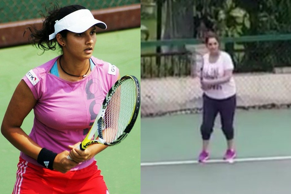Video: Sania Mirza playing tennis With Baby Bump