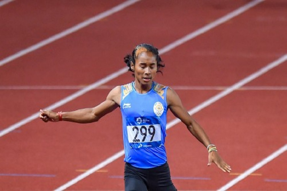 Hima Das Is Disqualified 220 M Semifinal Asian Games