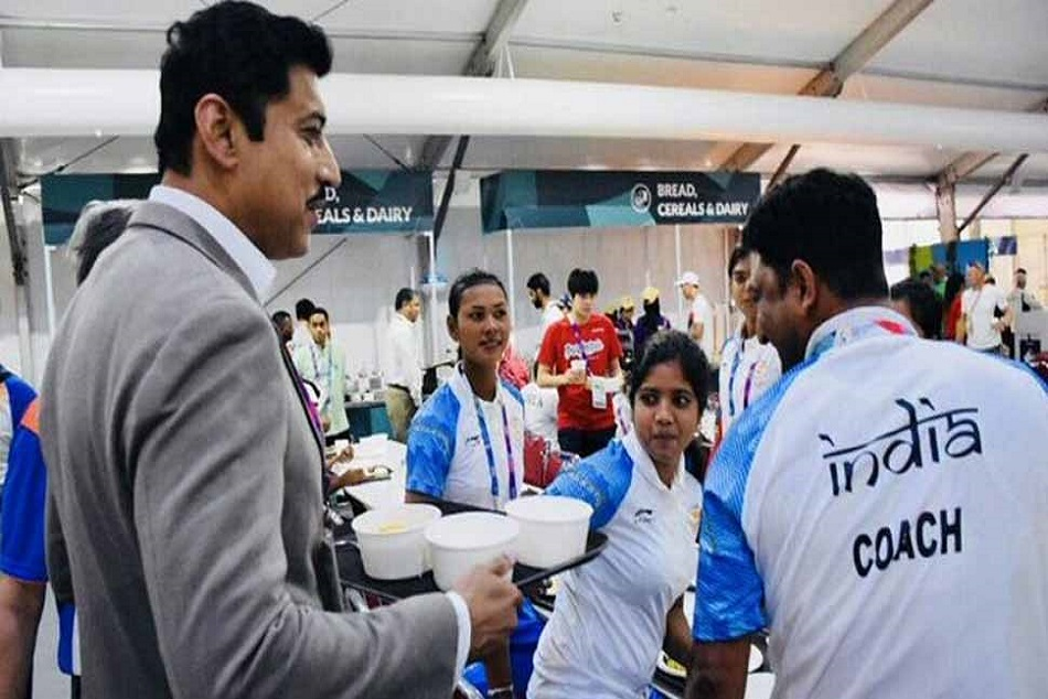 Asian Games 2018 Rajyavardhan Singh Rathore Pic Getting Vira