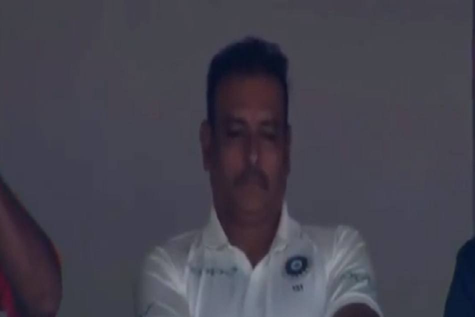 ENG vs IND : Ravi Shastri Snoozing video getting viral