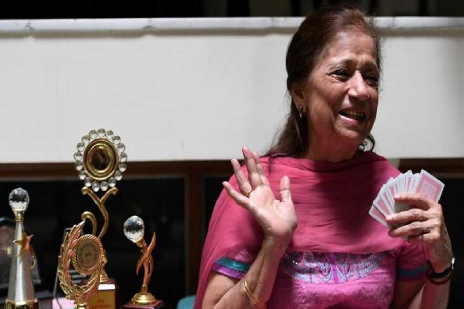 79 year old rita will participate in asian games for gold