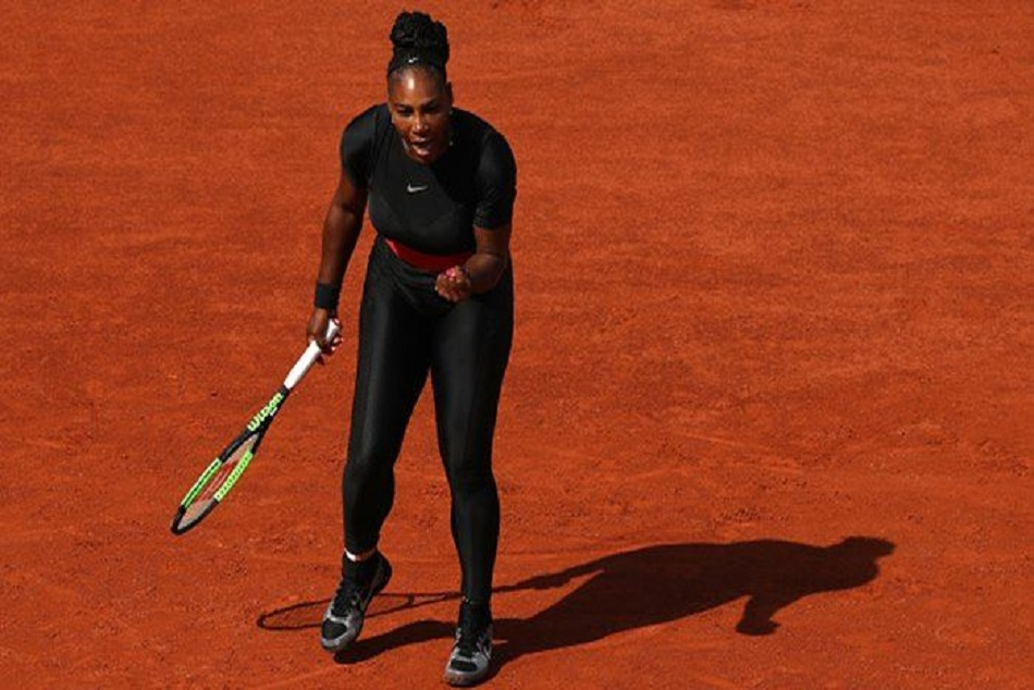 French Open Serena Williams Banned Wearing Black Catsuit
