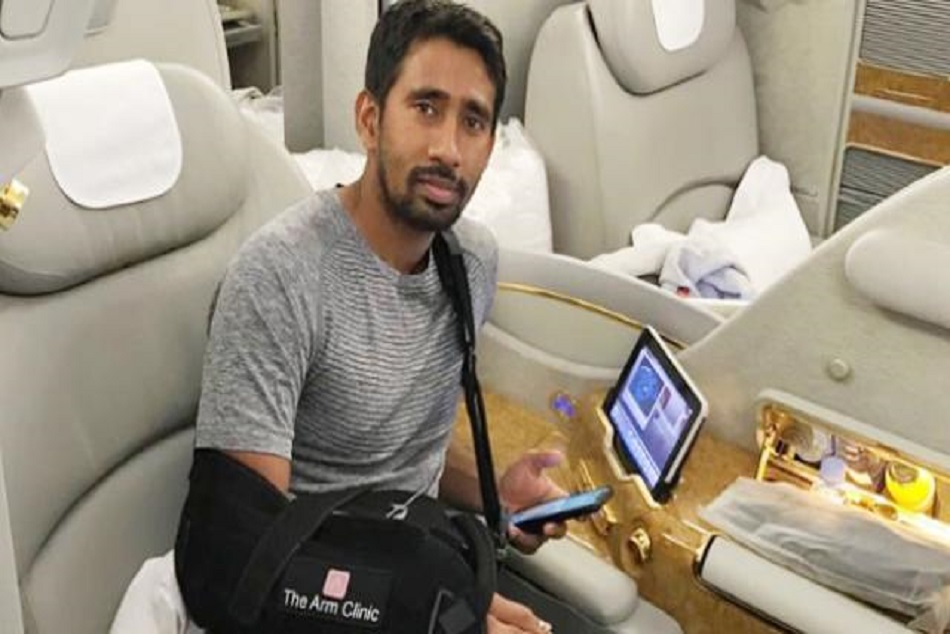 wriddhiman saha back india after shoulder operation in england