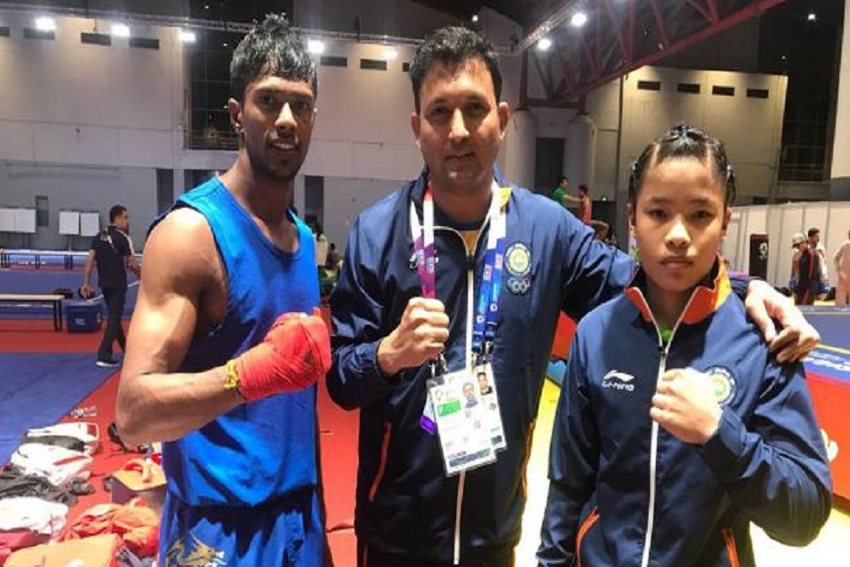 santosh kumar gets bronze in Wushu Womens Sanda 56 kg event