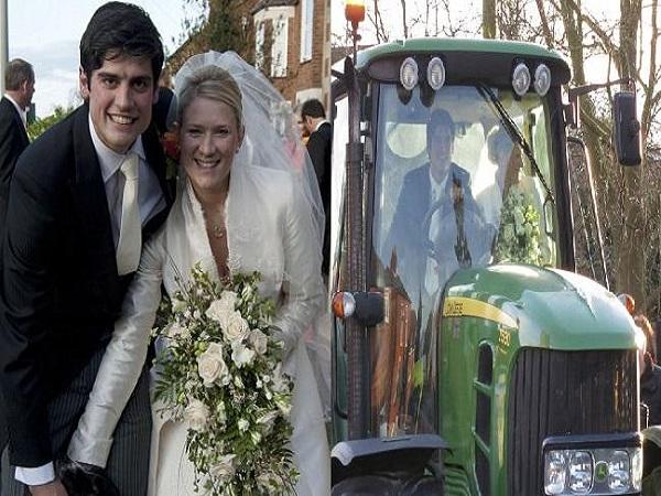 शादी करके ट्रैक्टर पर गए थे: