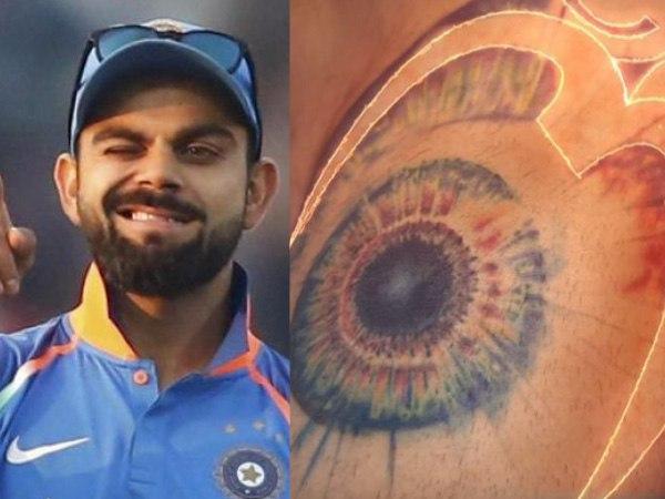 Tattoos of God's Eye on the shoulder: