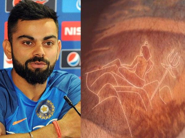 Shiva devotee Virat kohli tattoos: