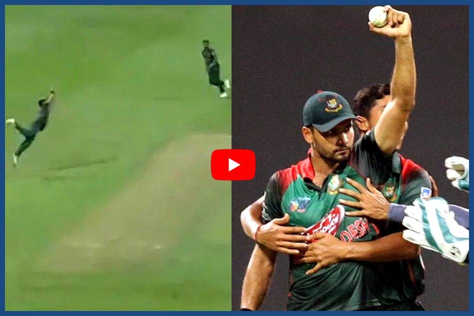 Asia Cup 2018 Mashrafe Mortaza S Stunning Catch Dismiss Shoaib Malik