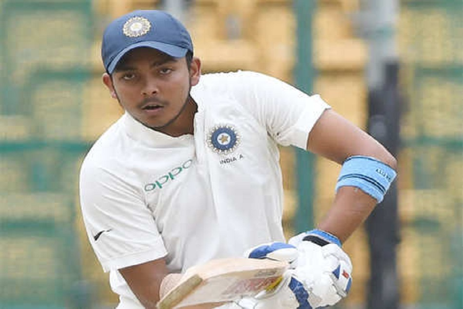 Prithvi Shaw may get chance to play 5th test math against England