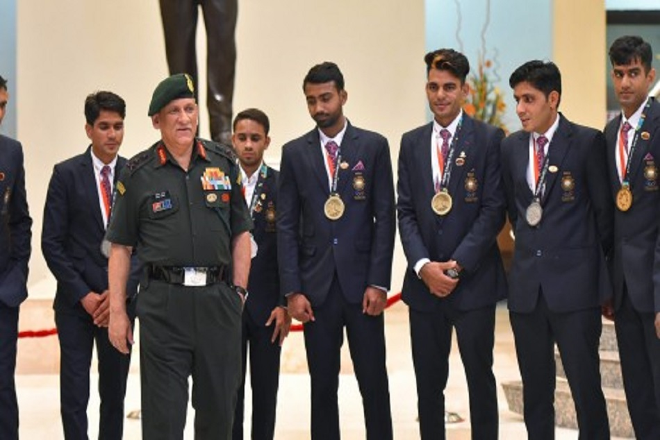 bipin rawat army chief praises players for asian games 2018