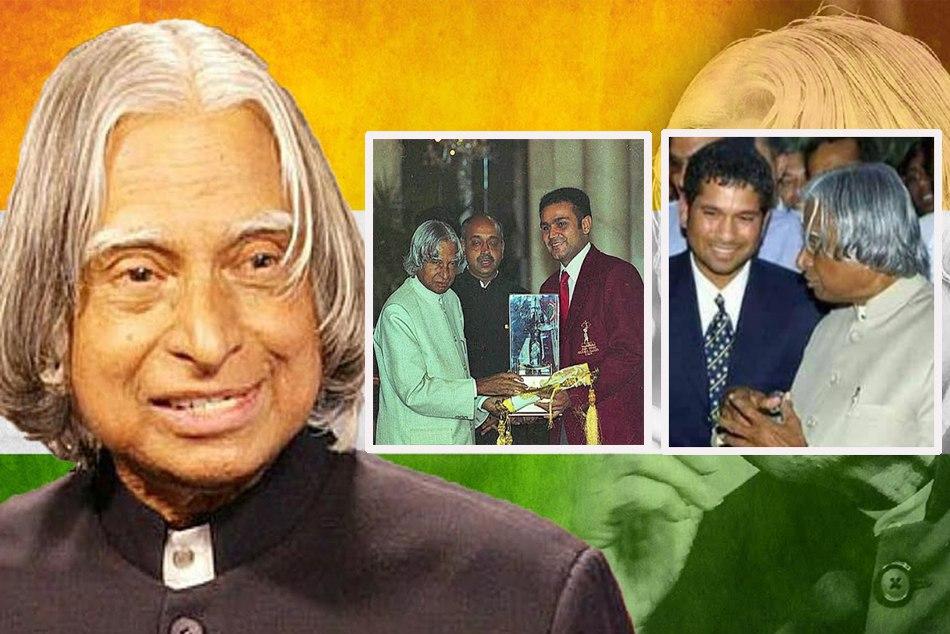 sachin tendulkar harbhajan singh and sehwag remembar apj abdul kalam former president