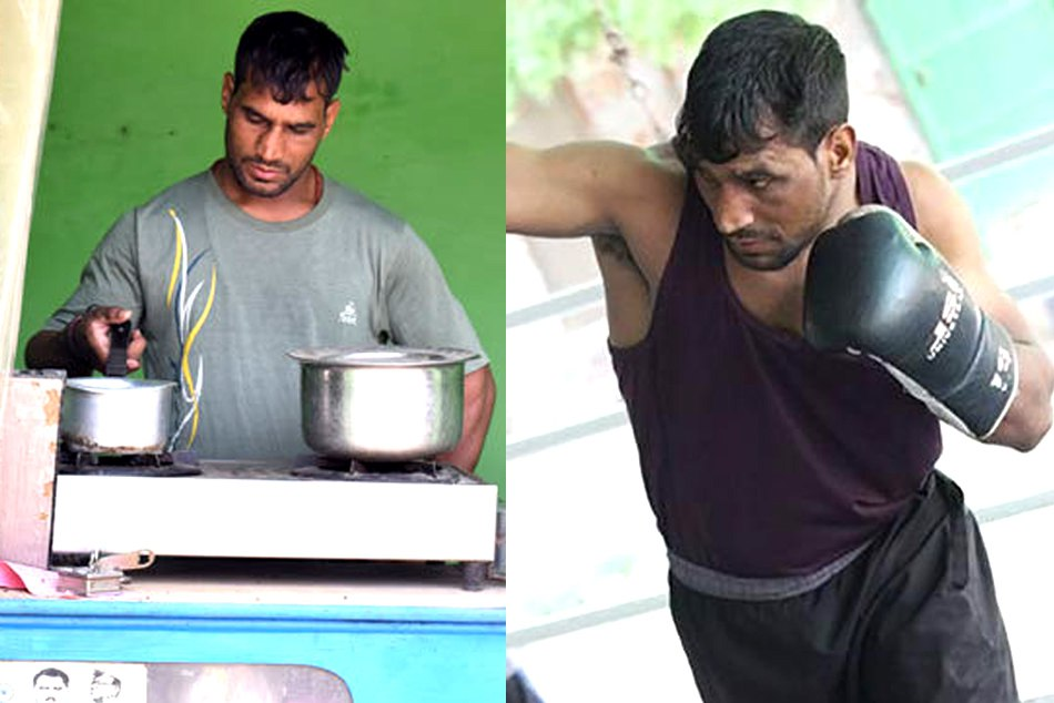 Indias no 1 boxer rajesh is selling tea in haryana want to became like vijender singh