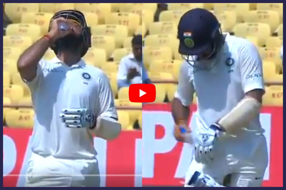 INDvsWI: watch Video how Cheteshwar pujara beat the Heat in 1st test