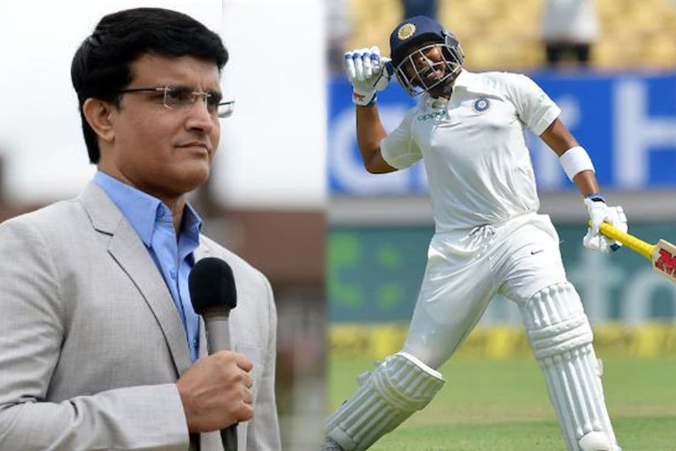 INDvsWI: Saurav Ganguly says Stop Comparing Virender Sehwag And Prithvi Shaw