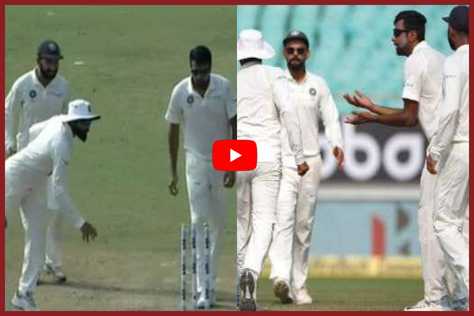 INDvsWI: Watch video when Jadeja astonished kohli andd Ashwin