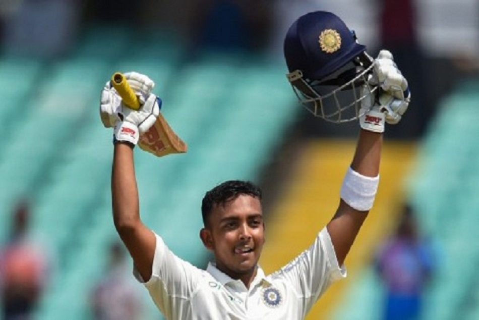 Prithvi shaw hits first over six break 10 years old record virendra sehwag