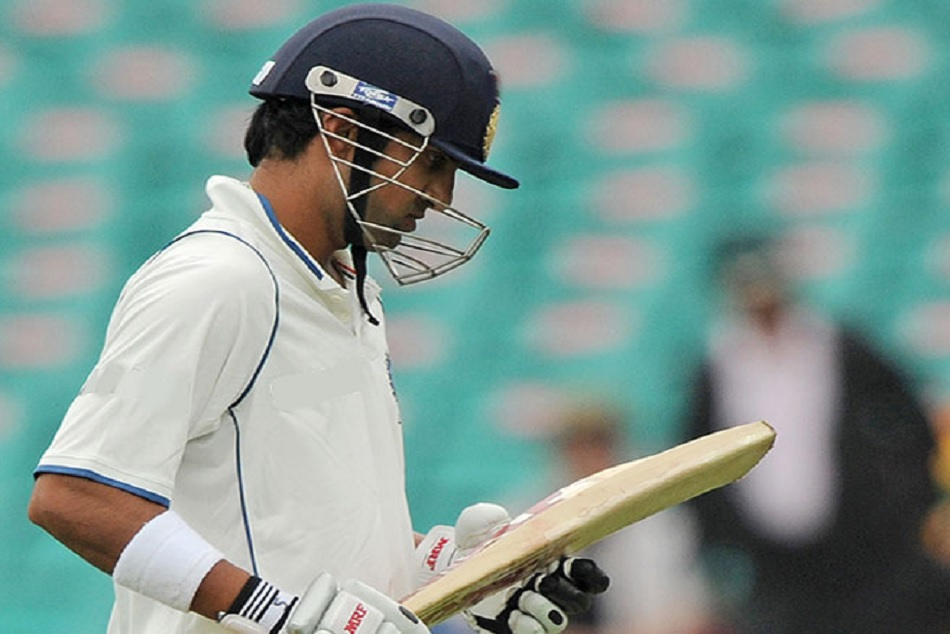 gautam gambhir run out in weird way in ranji trophy match agaisnt himachal pradesh