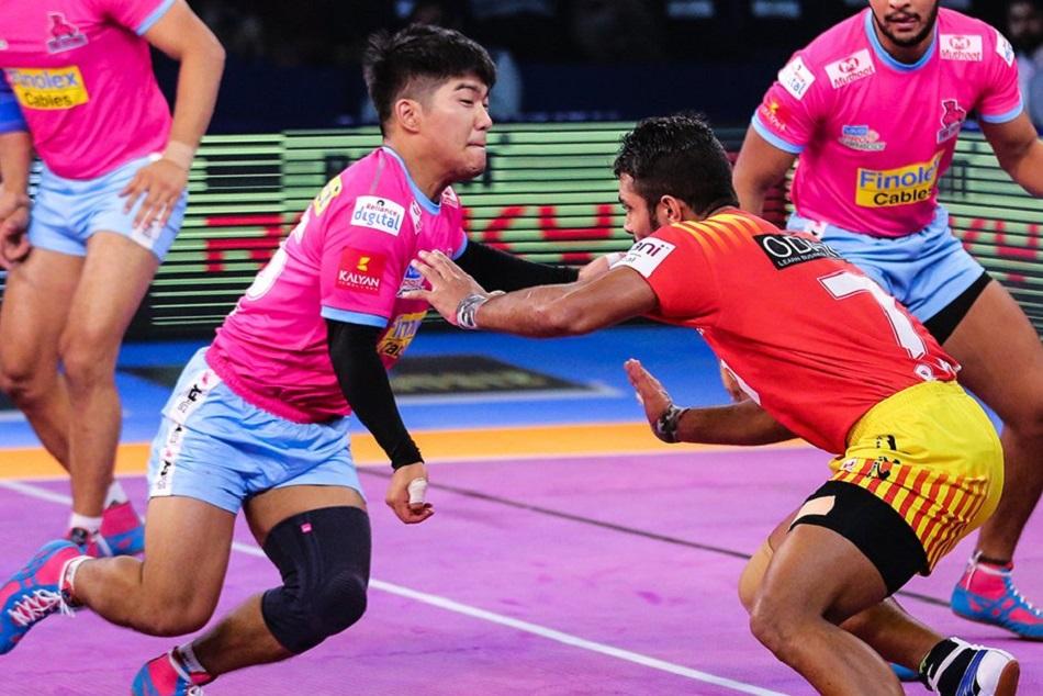 Pro Kabaddi 2018 Gujarat Fortunegiants Tamil Thalaivas Won