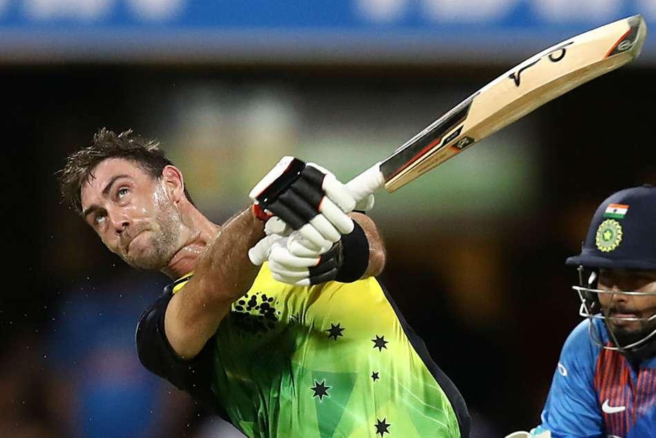 glenn maxwell shot hits the spider camera in india vs australia first t20 game