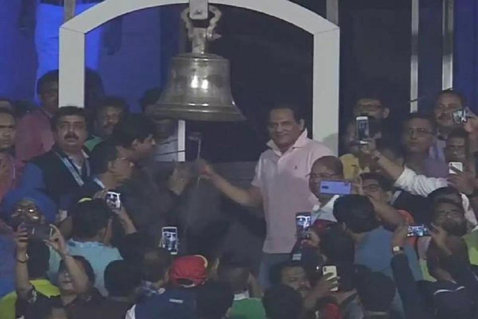 Gambhir Unhappy Mohammad Azharuddin Ring Bell At Eden Gardens