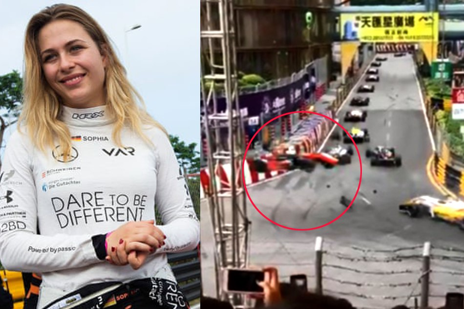 Video Teen Driver Sophia Floersch Fractures Spine Horror Formula Three Crash