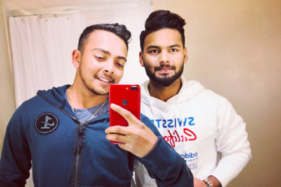 rishabh pant is trolled on the him and prithvi shah picture uploaded by him