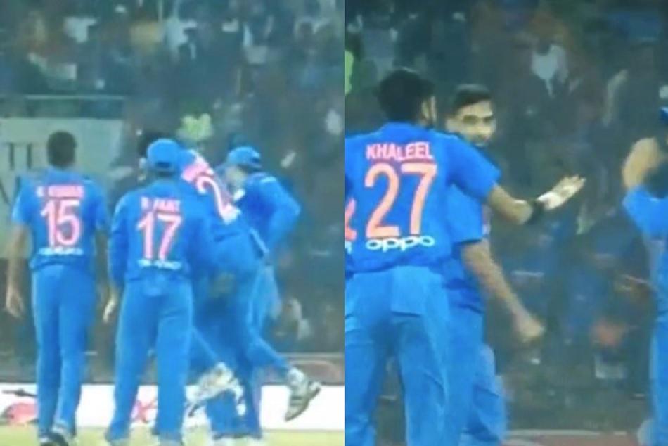 Khaleel Hurted Rohit Shrama While Celebrating Durin 2nd T20 Odi