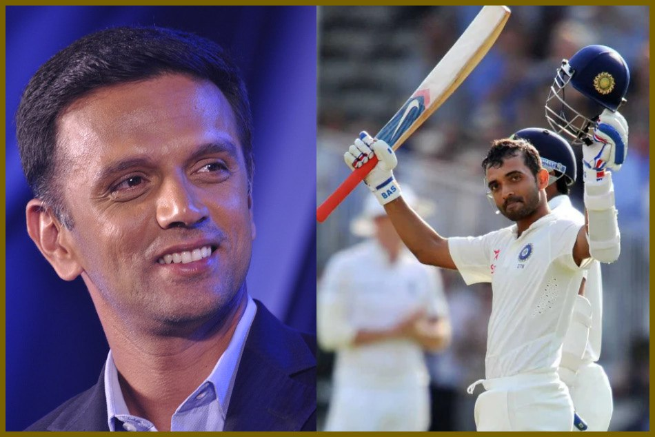 Ajinkya Rahane received best wishes on his cricket bat by the rahul dravid during Adelaide test match