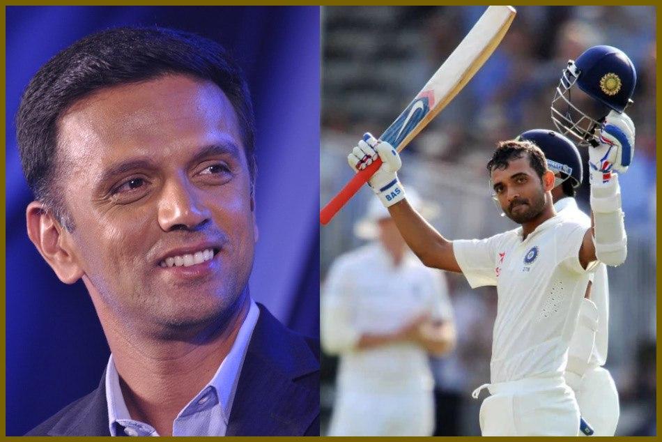 Ajinkya Rahane Received Best Wishes On His Cricket Bat The Rahul Dravid Adelaide Australia