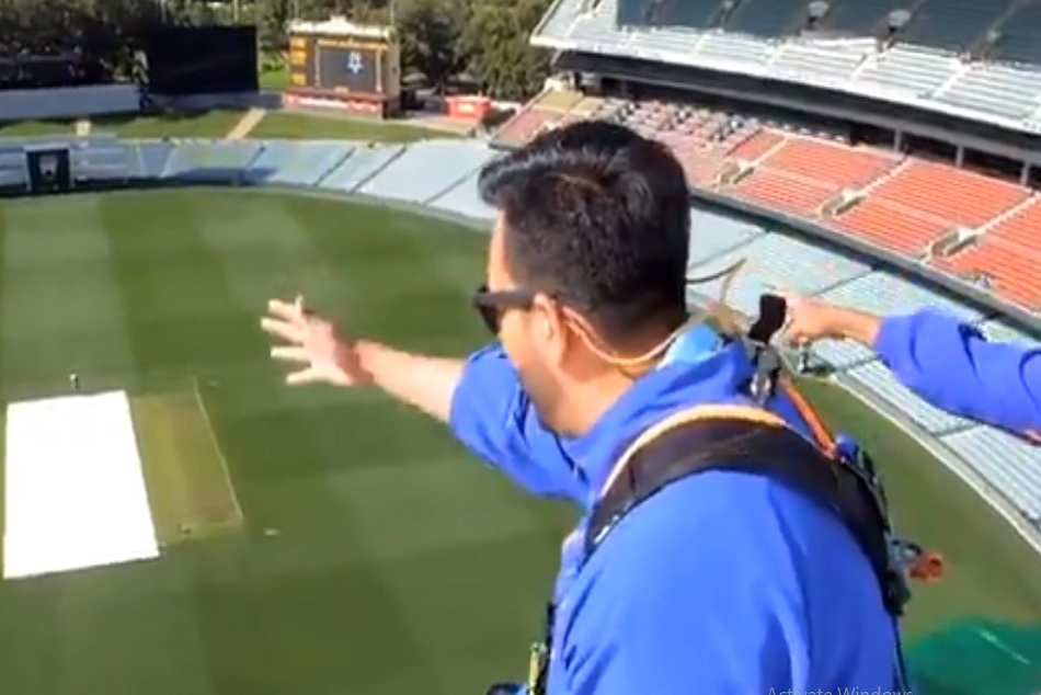 Bharat Army reached Adelaide Oval rooftop to cheer for the Indian team