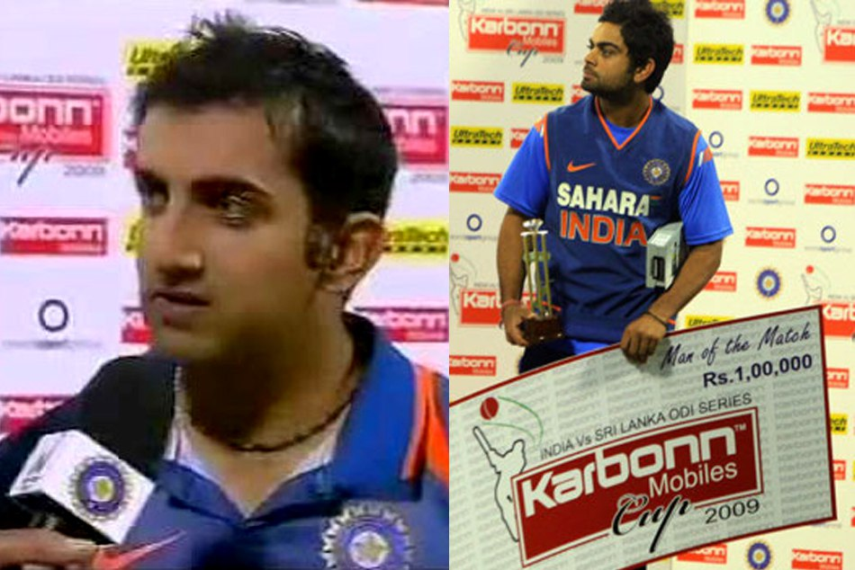 When Gautam Gambhir Gave His Man The Match Award Virat Kohli