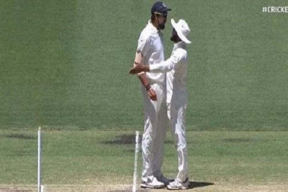 Indvsaus Ishant Sharma Ravindra Jadeja Indulge Verbal Spat During The Perth Test