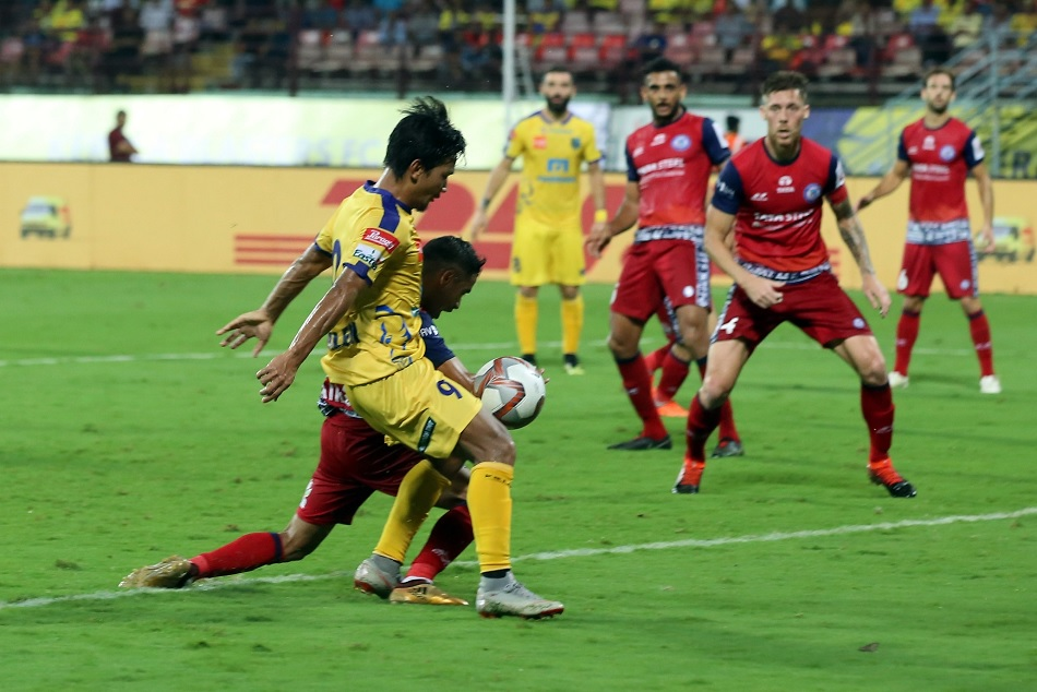 Kerala Blasters played 1-1 draw against Jamshedpur FC in indian super leage season 5