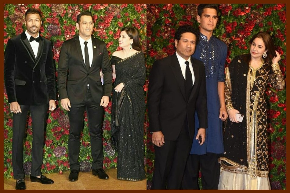 Former and current Indian cricketers turn up in style for Deepika-Ranveer wedding reception