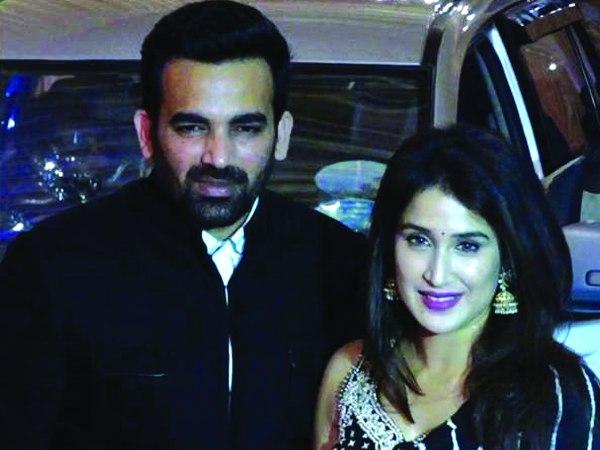 जहीर खान और सागरिका घगटे: