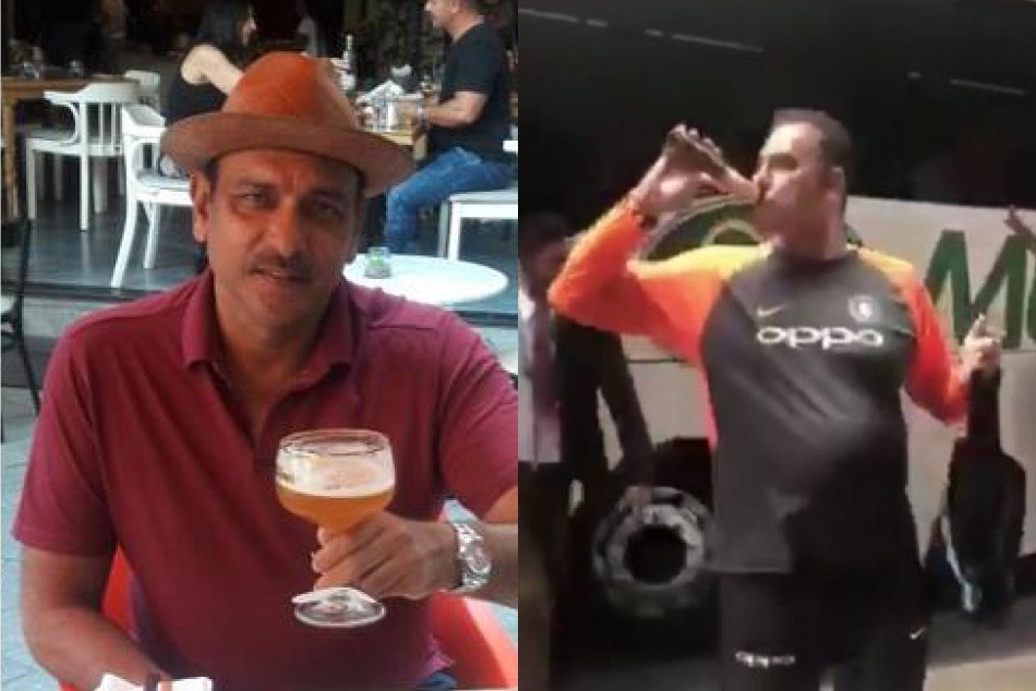 Ravi Shastri Is Trolled On Drinking Beer After Historic Win Melbourne Boxing Day Test