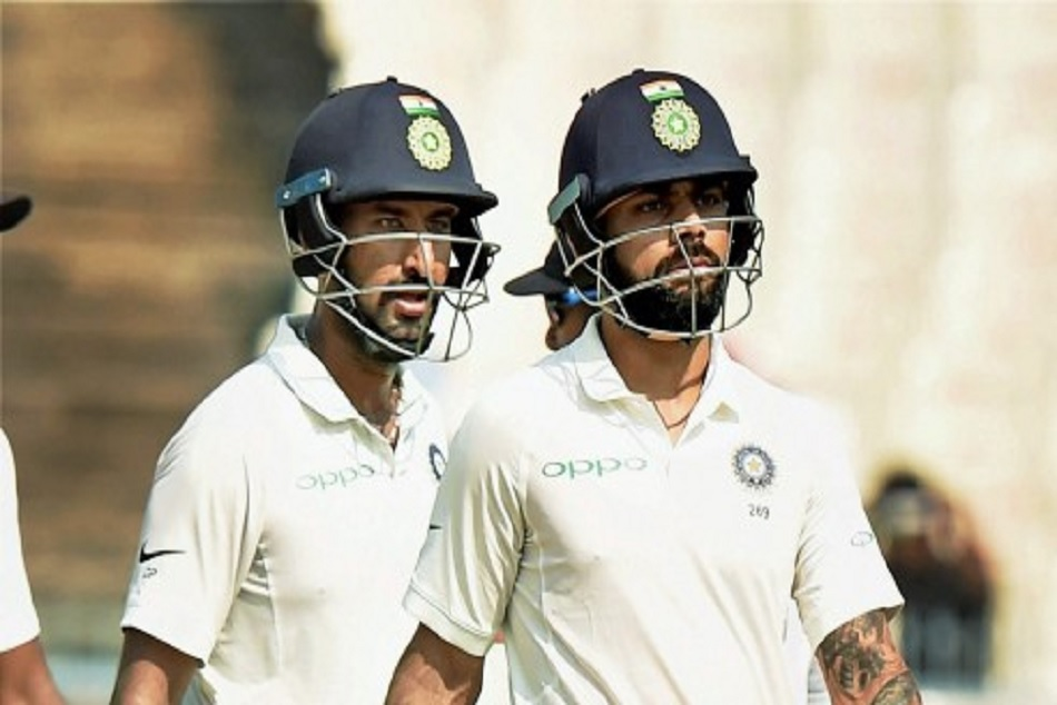 Video: Cheteshwar Pujara refuses for a 4th run to Virat Kohli